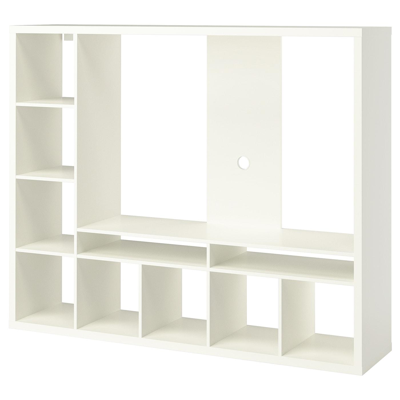 Meuble Tv Colonne Ikea lappland meuble tv - blanc 183x39x147 cm