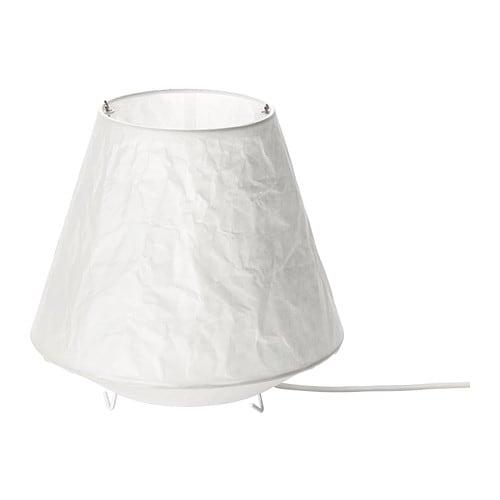 LÅTER Lampe de table , blanc Hauteur: 21 cm Diam. abat-jour: 22 cm Longueur fil électrique: 2.0 m
