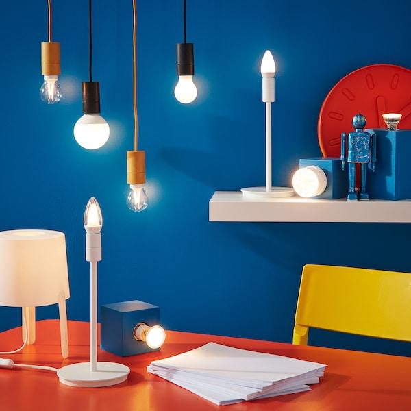 LEDARE ampoule LED E27 600 lumen lumière chaude/globe opalin 600 lm