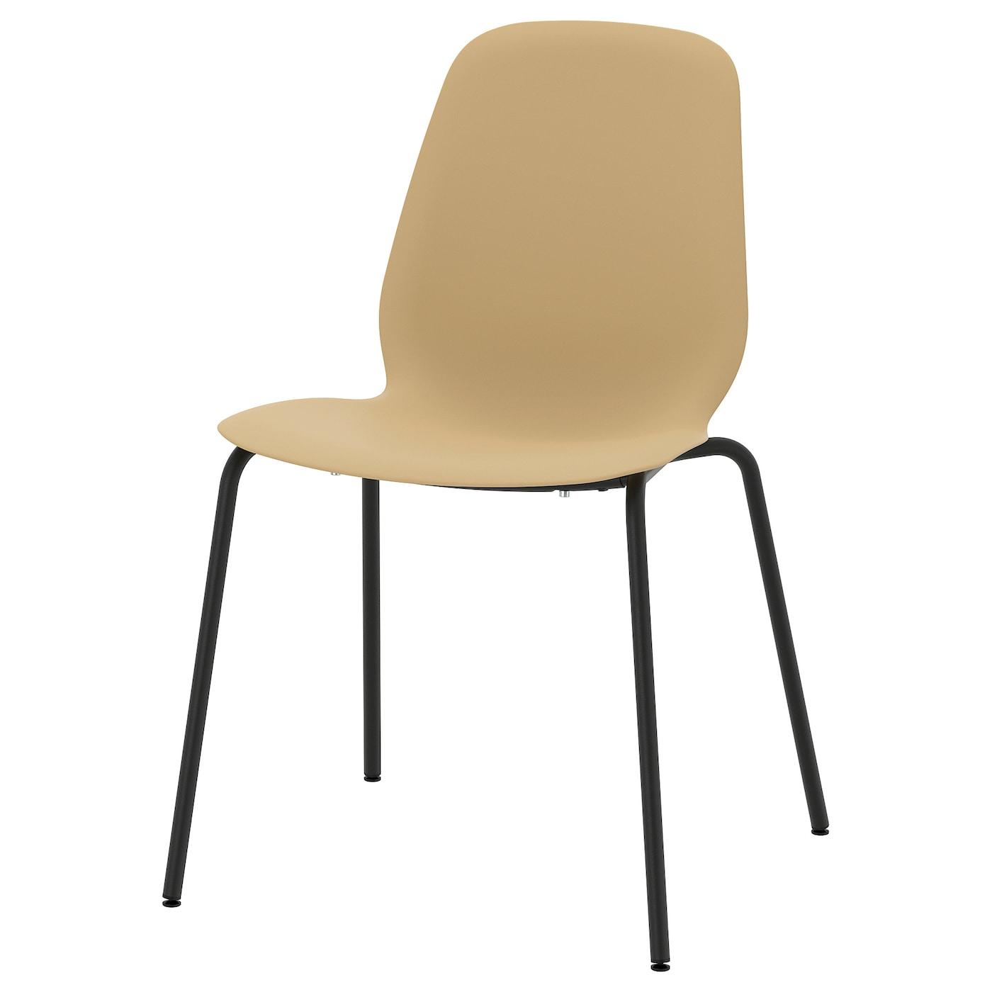 LEIFARNE Chaise, vert olive clair, Broringe noir IKEA