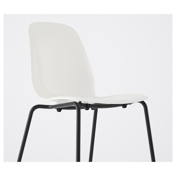 LEIFARNE Chaise, blanc, Broringe noir IKEA
