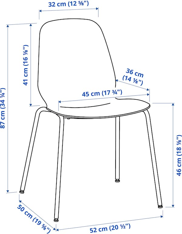 LEIFARNE Chaise, blanc/Broringe blanc