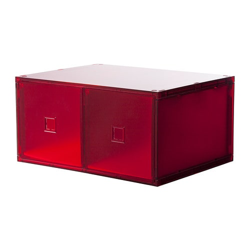 lekman mini commode 2 tiroirs rouge ikea. Black Bedroom Furniture Sets. Home Design Ideas