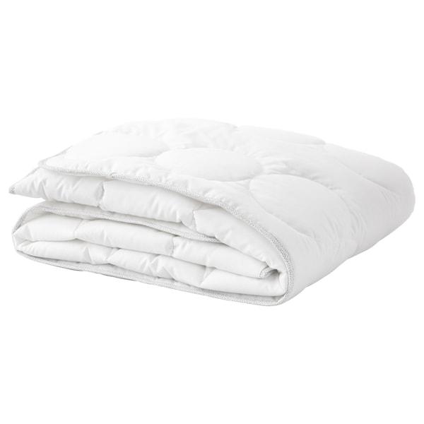 LENAST Couette pour lit bébé, blanc/gris, 110x125 cm