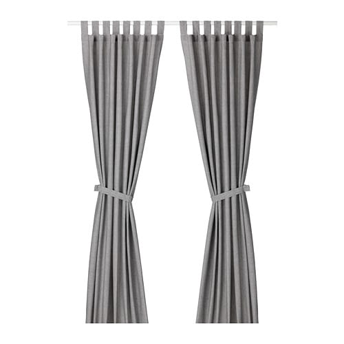 LENDA Rideaux+embrasses, 1 paire - IKEA
