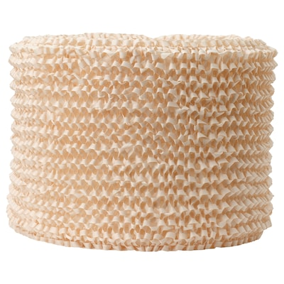 LERGRYN Abat-jour, tricoté beige/fait main, 42 cm