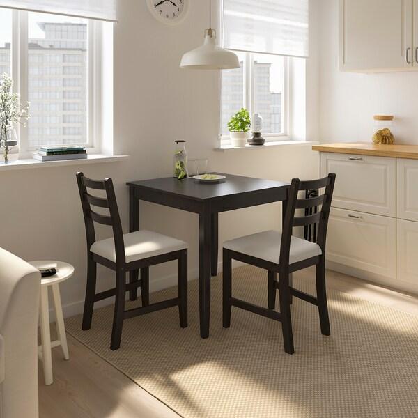 LERHAMN table brun noir 74 cm 74 cm 75 cm