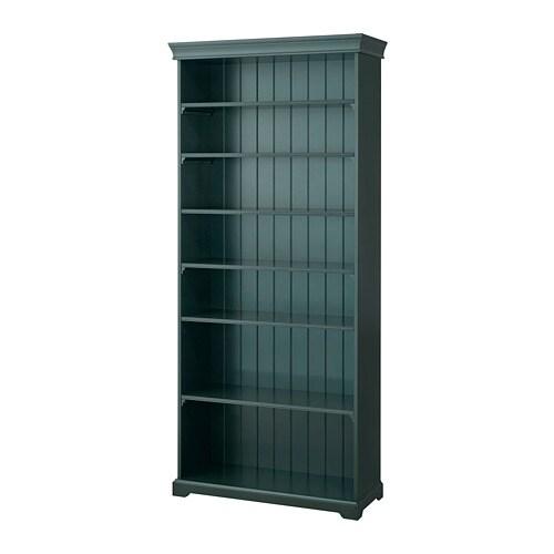 LIATORP Bibliothèque - noir/vert olive - IKEA