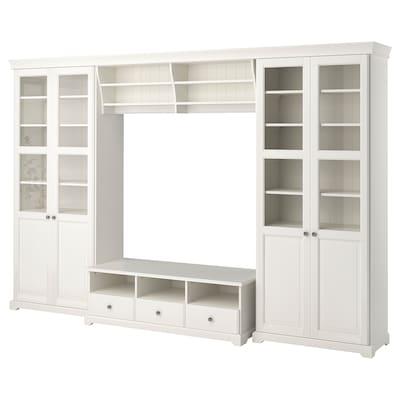 LIATORP Combinaison meuble TV, blanc, 332x214 cm
