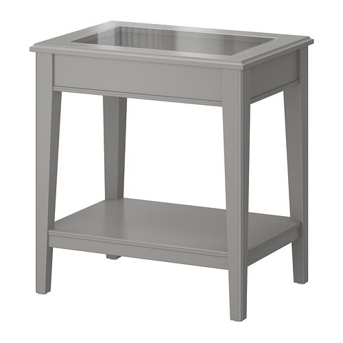 Liatorp table d 39 appoint gris verre ikea for Ikea besta table d appoint