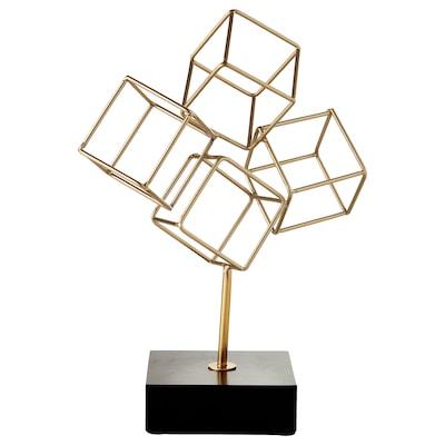 LINDRANDE Décoration, cube couleur or, 27 cm