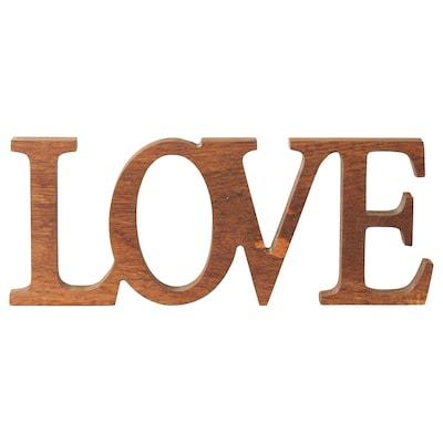 LINDRANDE décoration amour naturel 25 cm 2 cm 10 cm