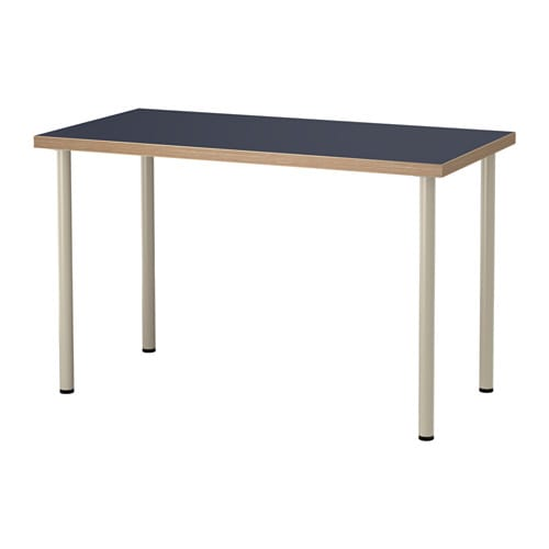 Linnmon adils table bleu beige ikea for Panier de bar ikea bygel
