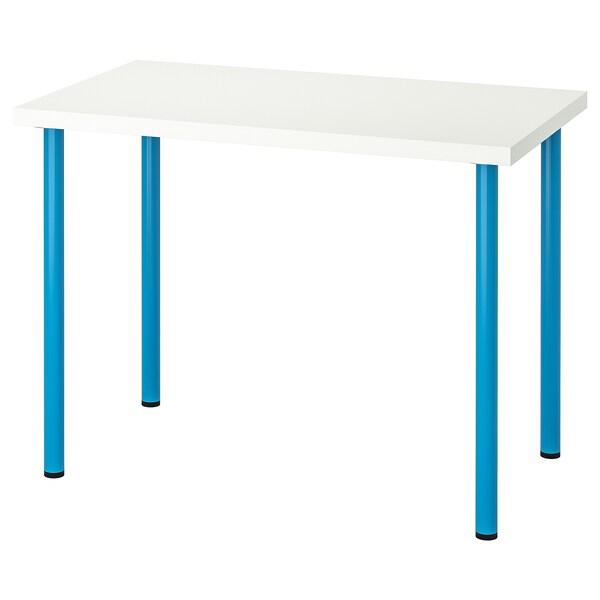 LINNMON / ADILS Table, blanc/bleu, 100x60 cm
