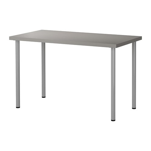 linnmon adils table gris couleur argent ikea. Black Bedroom Furniture Sets. Home Design Ideas