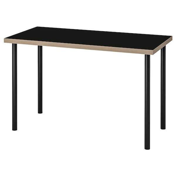 LINNMON / ADILS Table, noir contreplaqué, 120x60 cm
