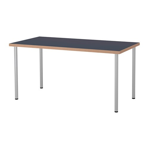 linnmon adils table bleu couleur argent ikea. Black Bedroom Furniture Sets. Home Design Ideas