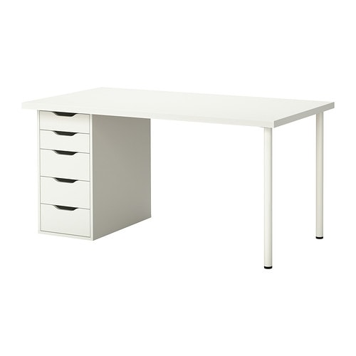 linnmon alex table blanc ikea. Black Bedroom Furniture Sets. Home Design Ideas