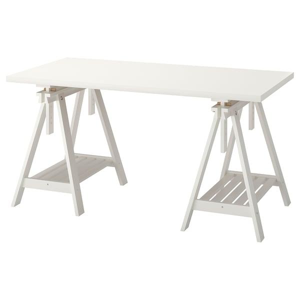 LINNMON / FINNVARD Table, blanc, 150x75 cm