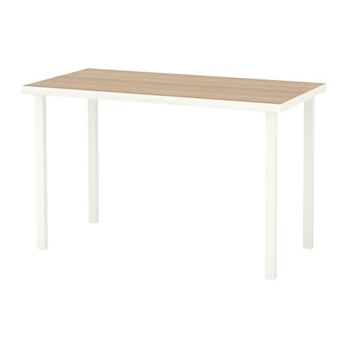 linnmon godvin table blanc effet ch ne blanchi blanc ikea. Black Bedroom Furniture Sets. Home Design Ideas