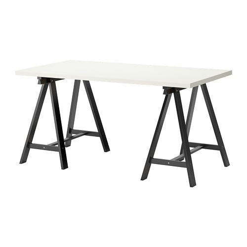 Linnmon oddvald table blanc noir ikea - Ikea table noire ...