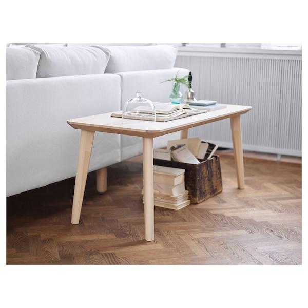 LISABO Table basse, plaqué frêne, 118x50 cm