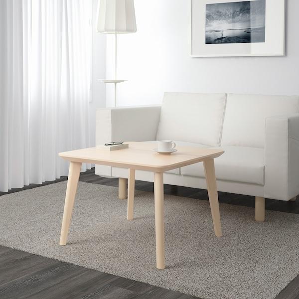 LISABO Table basse, plaqué frêne, 70x70 cm
