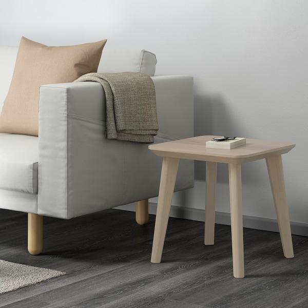 LISABO Table d'appoint, plaqué frêne, 45x45 cm