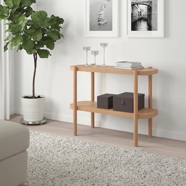 LISTERBY Desserte, teinté blanc chêne, 92x38x71 cm