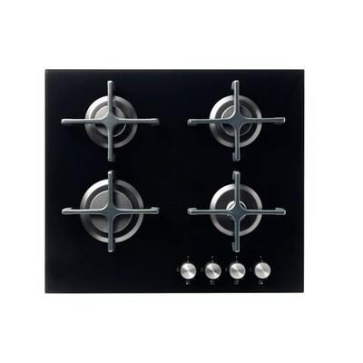 LIVSGNISTA Table de cuisson à gaz, verre noir