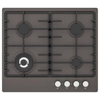 LIVSLÅGA Table de cuisson à gaz, gris foncé
