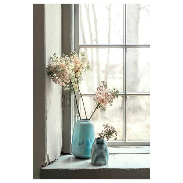 LIVSVERK vase bleu 21 cm