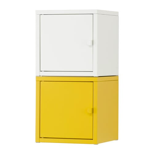 lixhult combinaison de rangement blanc jaune ikea. Black Bedroom Furniture Sets. Home Design Ideas