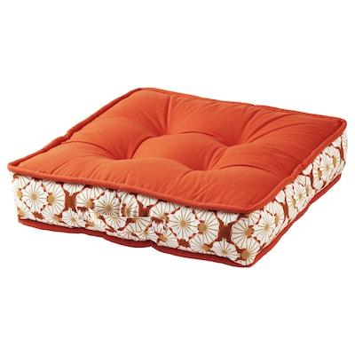 LJUVARE Coussin/pouf, orange, 48x48 cm