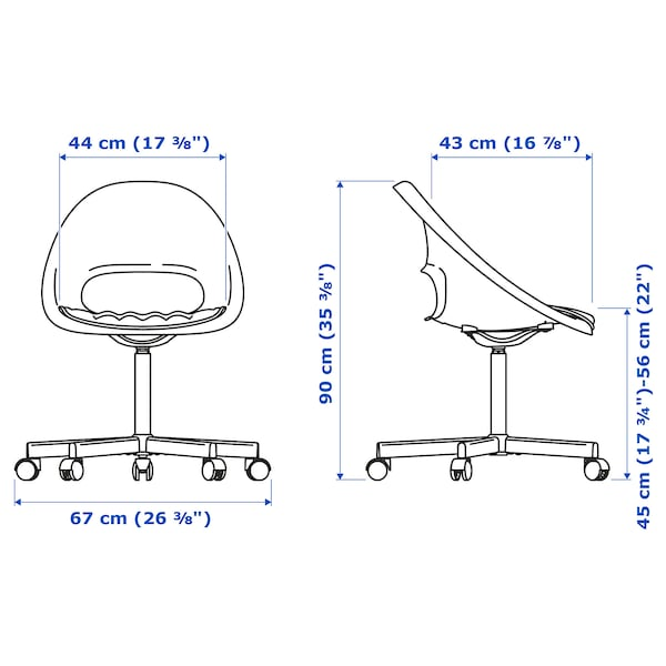 LOBERGET / BLYSKÄR Chaise pivotante avec coussin, blanc/gris clair
