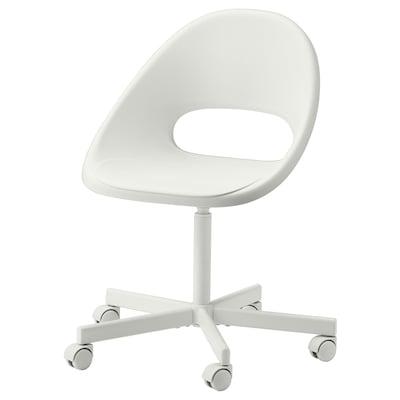 LOBERGET / BLYSKÄR Chaise pivotante, blanc