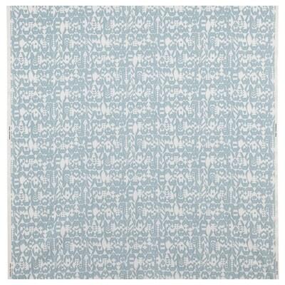 LOTTALI Tissu au mètre, bleu clair/écru, 150 cm