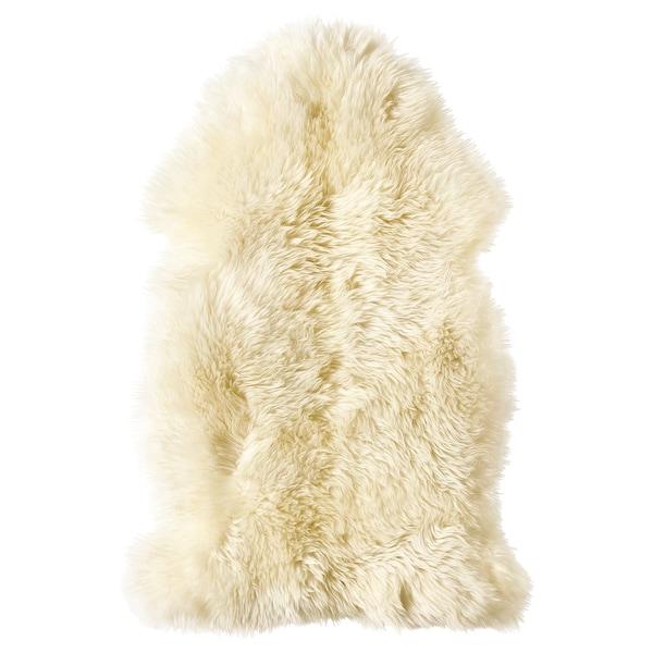 LUDDE Peau de mouton, blanc cassé