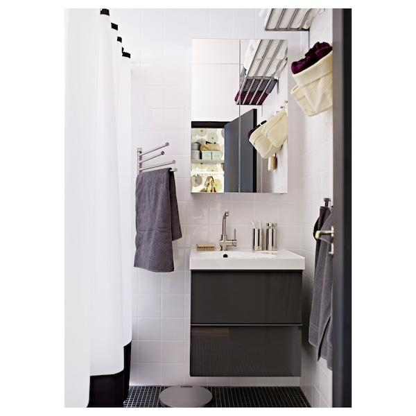 LUNDSKÄR Mitigeur lavabo avec bonde, couleur acier inox