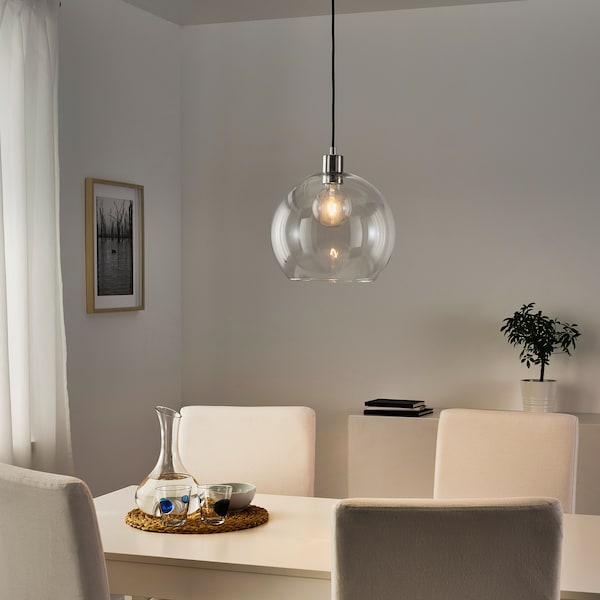 LUNNOM Ampoule LED E27 100 lumen, globe transparent, 95 mm