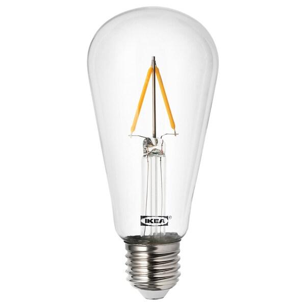 LUNNOM ampoule LED E27 100 lumen forme de goutte transparent 2200 Kelvin 100 lm 60 mm 0.9 W