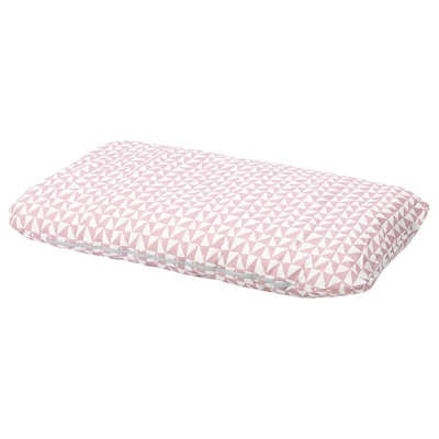 LURVIG Coussin, rose/triangle, 62x100 cm