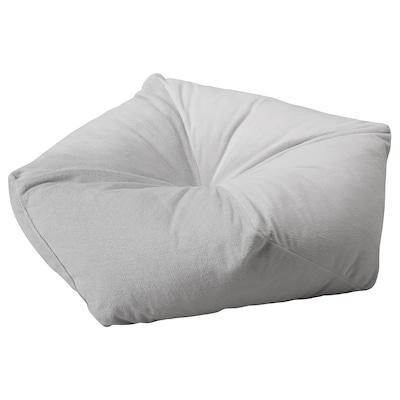 LURVIG Pouf, gris clair, 53x15 cm