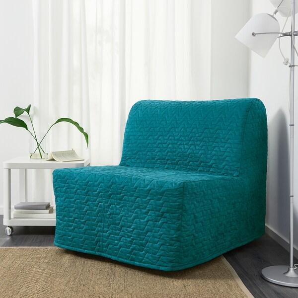 Lycksele Havet Chauffeuse Convertible Vallarum Turquoise Ikea