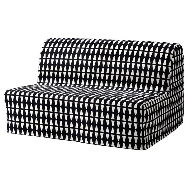 Lycksele Housse De Convertible 2places Ebbarp Noir Blanc Ikea