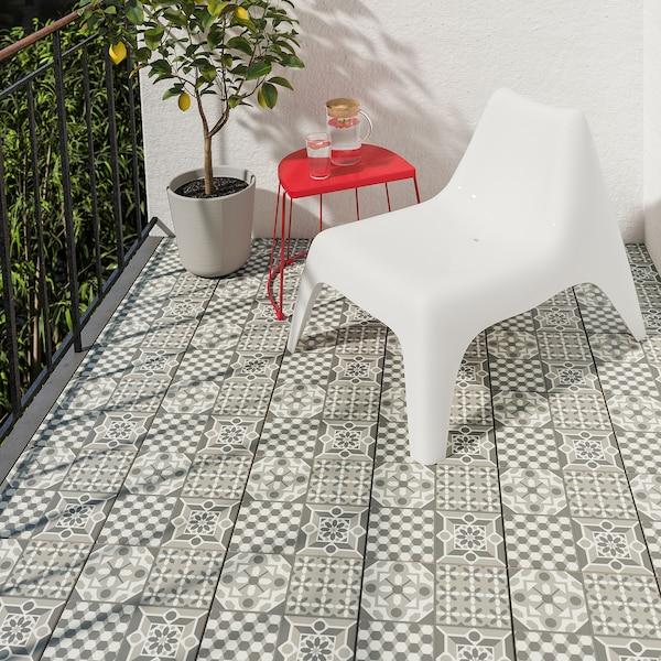 MÄLLSTEN Caillebotis, gris/blanc, 0.81 m²