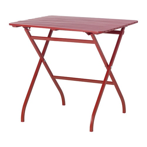 M lar table ext rieur rouge ikea for Table de balcon ikea