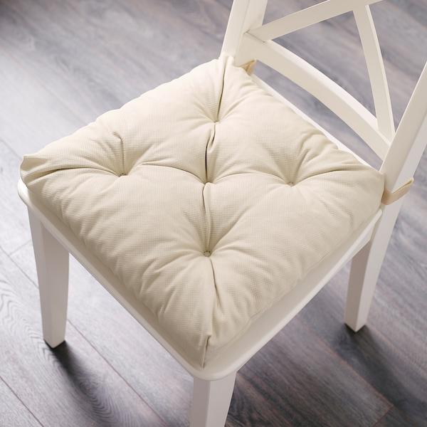 MALINDA Coussin de chaise, beige clair, 40/35x38x7 cm