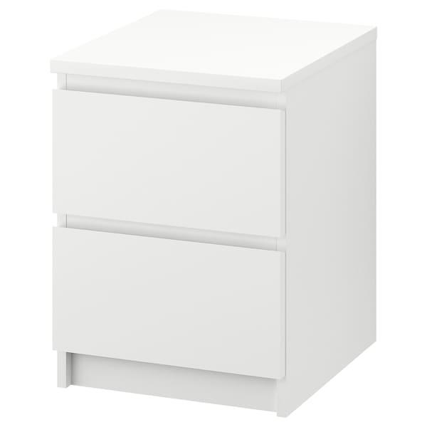 MALM commode 2 tiroirs blanc 40 cm 48 cm 55 cm 43 cm