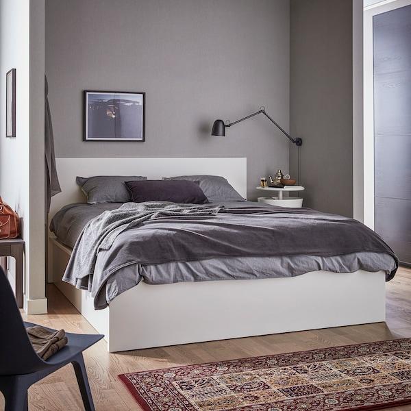 MALM Cadre lit coffre, blanc, 160x200 cm